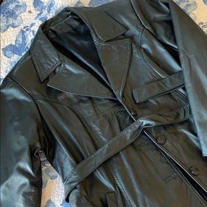 Leather Jacket & Gloves